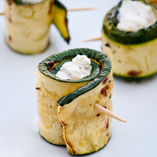 Cheese Stuffed Zucchini Rolls.