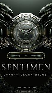 SENTIMEN Luxury Clock Widget
