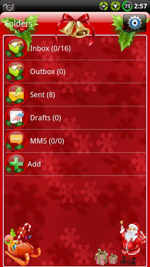 Christmas GO SMS Theme- screenshot