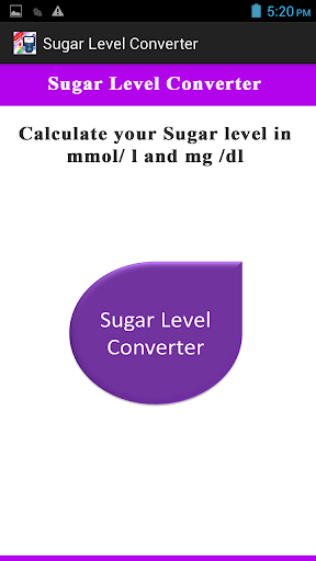 Sugar Level Converter