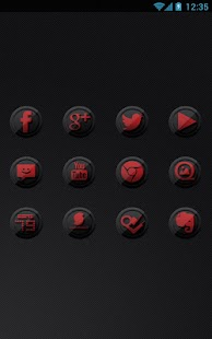 Icon Pack - 3D Black and Red - screenshot thumbnail