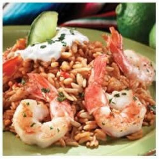 Garlic and Lime Shrimp with Spanish Rice