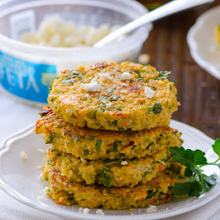 Sun-dried Tomato and Feta Quinoa Cakes