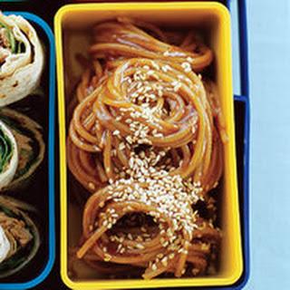 Cold Ginger, Soy and Honey Sesame Noodles Recipe