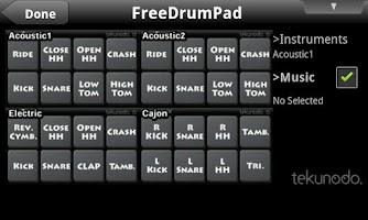 Screenshot of FreeDrumPad for Android