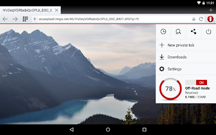 Opera browser for Android Screenshot 1