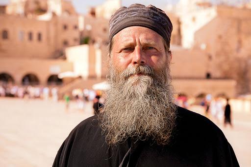 An Orthodox priest in Jerusalem.