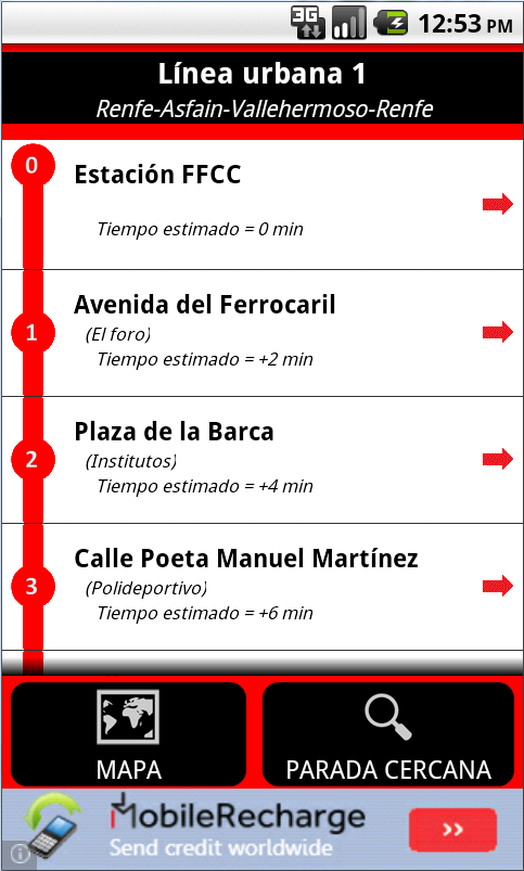 Autobuses Azuqueca - screenshot