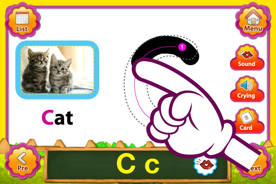 ABC Animal English FlashCards- screenshot