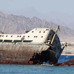 by Iain Weatherley - Transportation Boats ( boating, shipwreck, ship, wreck, boats, sea, boat, deserted, decay,  )