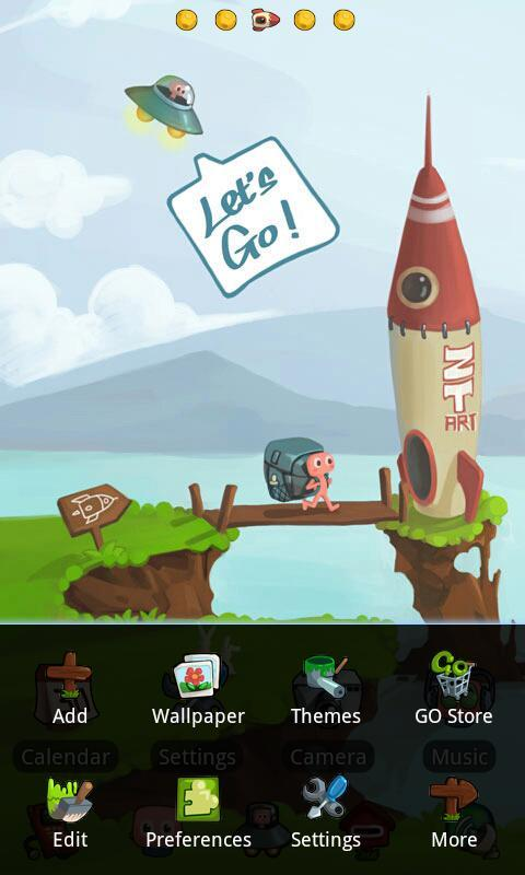 Space Travel Theme GO Launcher - screenshot