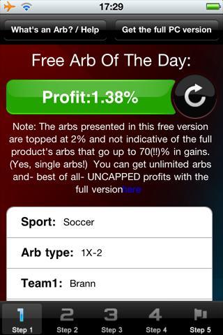 Arb Of The Day: 100PercentWinn - screenshot
