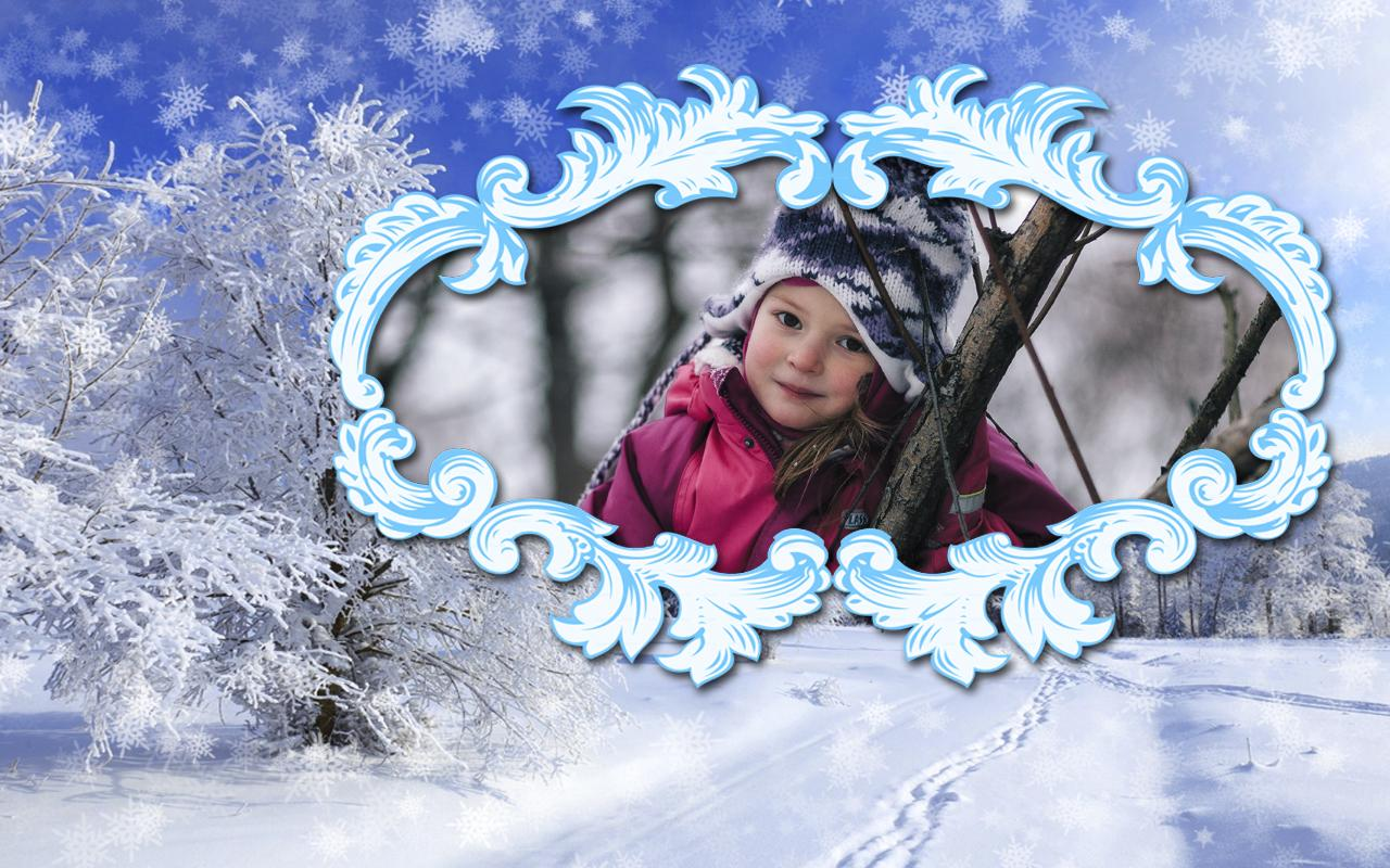 Winter bilderrahmen android apps auf google play for Bilderrahmen action
