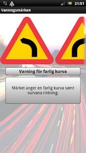 Svenska Vägmärken– miniatyr av skärmdump