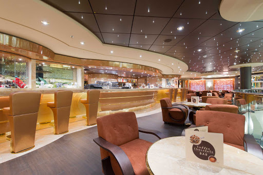 MSC-Preziosa-Il-Cappuccino - Like the Mediterranean ports it visits, MSC Preziosa offers its own café, Il Capuccino, where guests can savor coffee and sweets.