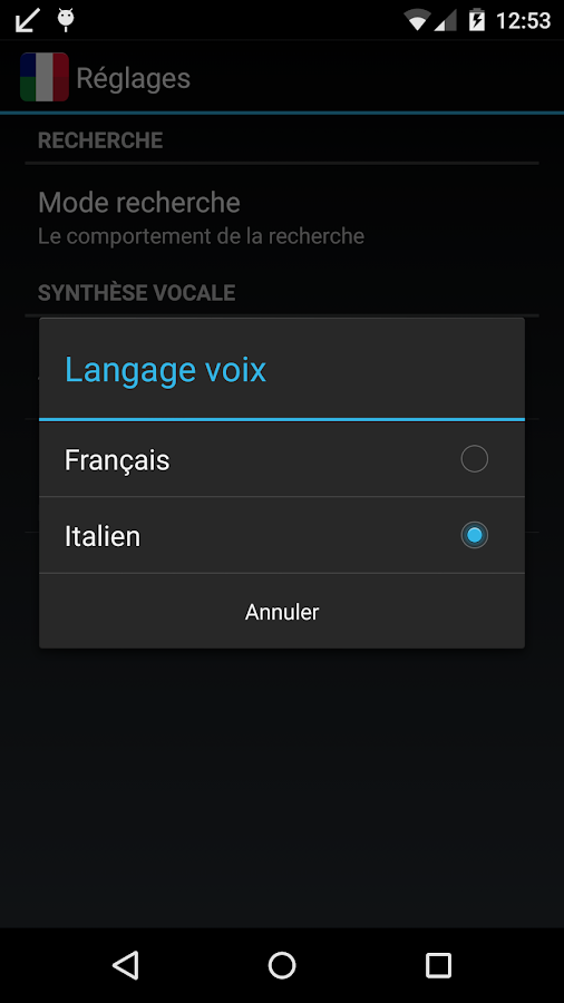 Offline French Italian Dict.- screenshot