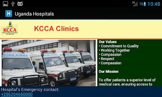 Screenshot of Uganda Hospitals