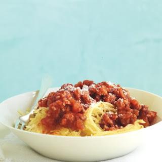 Quick Turkey Bolognese with Spaghetti Squash.