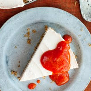 No-Bake Persimmon And Goat Cheese Cheesecake.