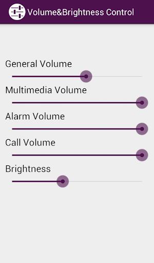 Volume Brightness Control