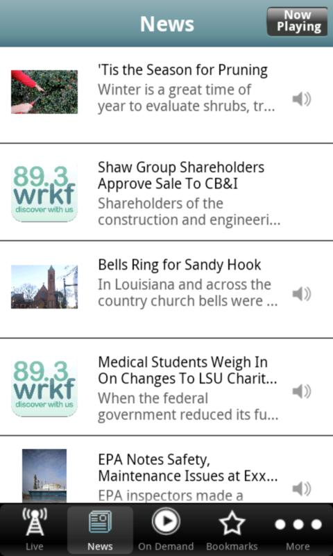 WRKF Public Radio App - screenshot