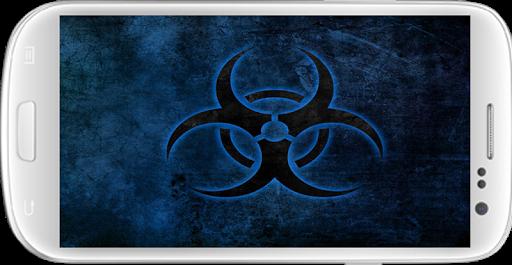 Blue Biohazzard Cool Wallpaper