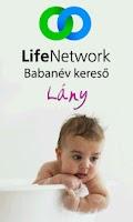 Screenshot of Babanév Kereső Lány