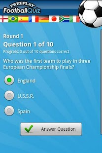 FreePlay Football Quiz- screenshot thumbnail