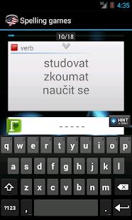 English-Czech Vocabulary FREE- screenshot thumbnail