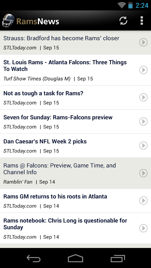 Rams News - screenshot