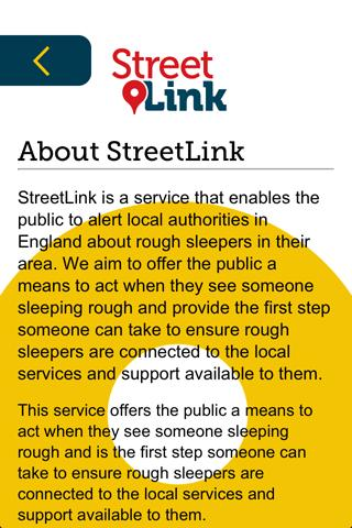 StreetLink- screenshot