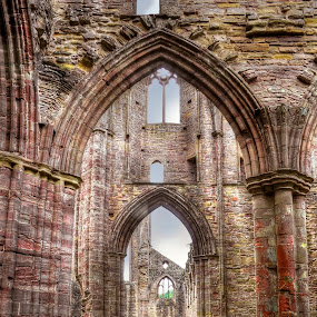Tintern Abbey Interior View IV by Skye Ryan-Evans - Buildings & Architecture Public & Historical ( tourist attraction, cistercian monastery, wales, monmouthshire, historic building, welsh monastery, monastic orders, tintern abbey, famous site, abaty tyndern, benedictine monastery, religious buildlings, catholic church, wye valley, welsh history )