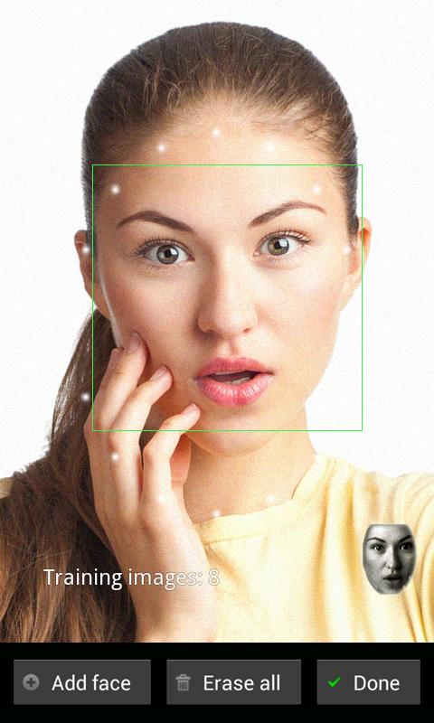FaceLock for apps- screenshot