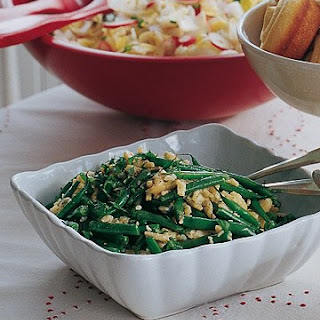 Green Beans and Spaetzle.