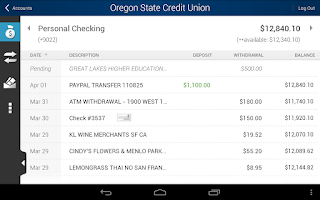Screenshot of Oregon State Credit Union