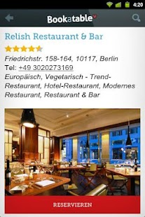 Bookatable Restaurant Finder - screenshot thumbnail