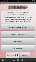 Screenshot of 1970s Music Trivia