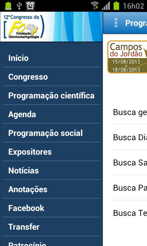 Congresso FORL - screenshot