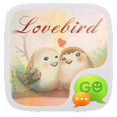 GO SMS Pro Lovebird Theme EX