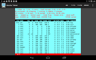 Screenshot of Mocha Telnet