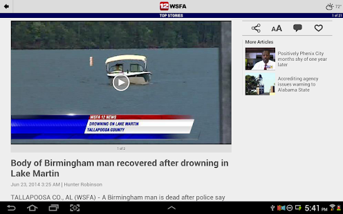 WSFA 12 News- screenshot thumbnail