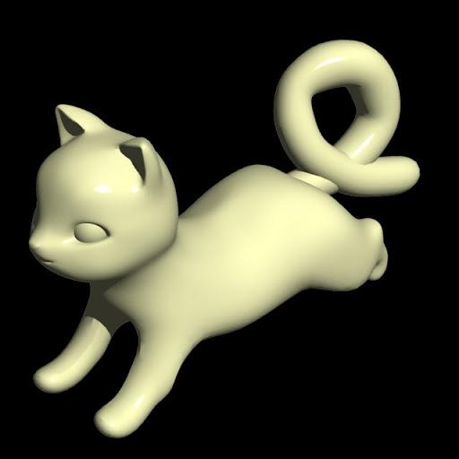 アクリルの子猫