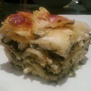 Pesto Lasagna.