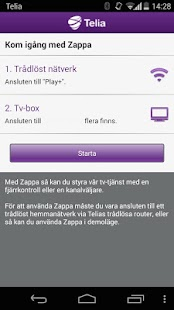 Tv från Telia, Zappa- screenshot thumbnail
