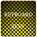 Yellow Carbon Keyboard Skin logo