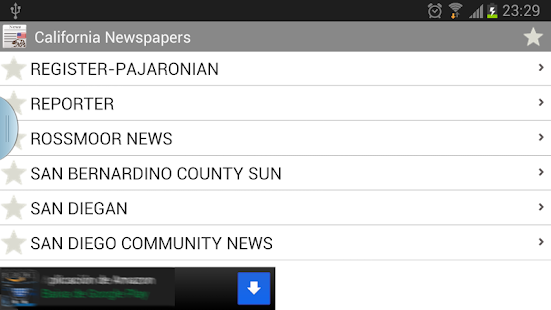California newspapers - screenshot thumbnail