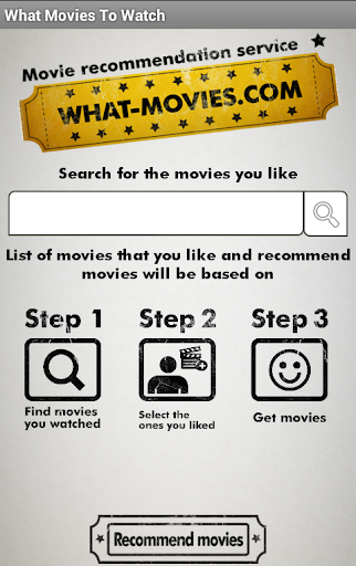 What Movie to Watch Suggestion