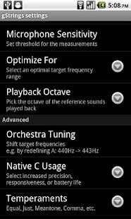 Tuner - gStrings Free - screenshot thumbnail