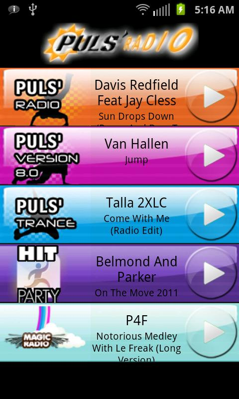 Puls'Radio Lite - screenshot
