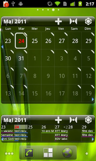 Pure Grid calendar widget v2.4.3